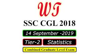SSC CGL 2018 Tier 2 Statistics 14 Sep 2019 Paper PDF
