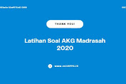 Latihan Soal AKG Madrasah 2020
