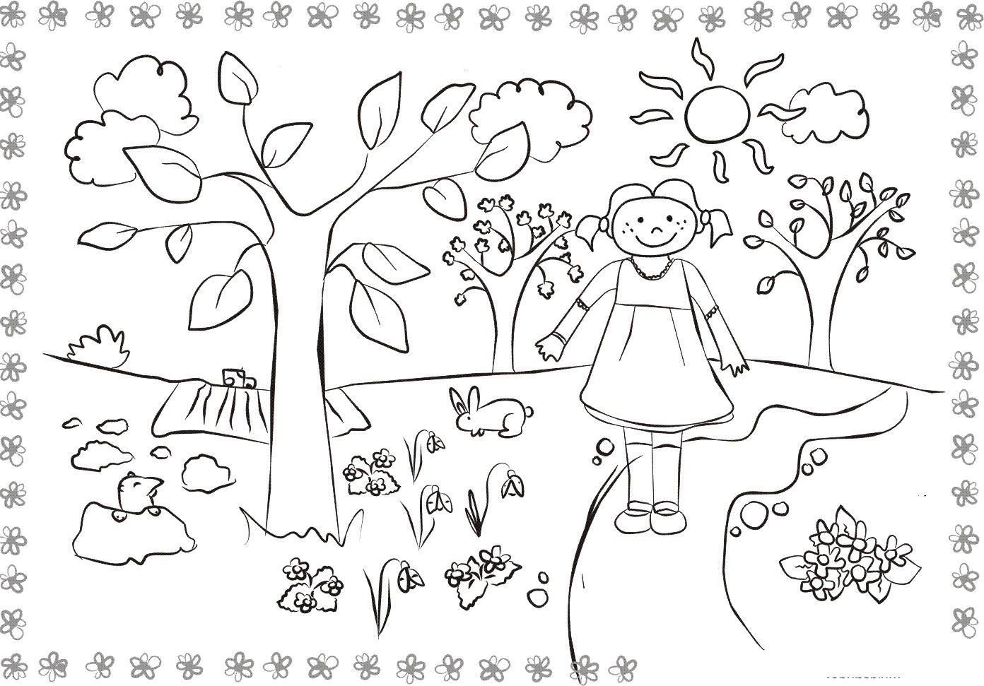 Раскраски деткам: Раскраски весна