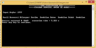 Program C++ Konversi Angka Menjadi Bilangan
