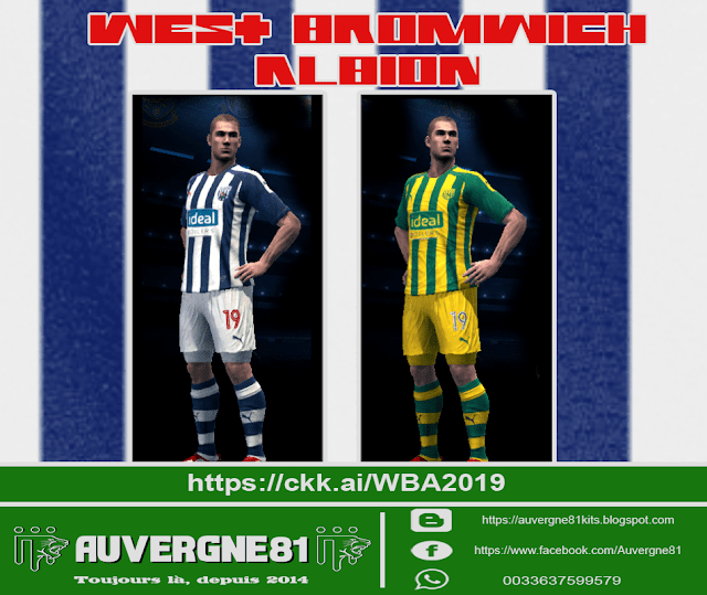 Pes 2013 Kits West Bromwich Albion Home And Away 2019 Kazemario Evolution