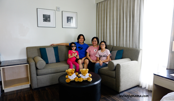 Seda Atria premier room review - Iloilo City - Iloilo hotels - Seda hotels - Philippines hotels - Bacolod blogger - Bacolod mommy blogger- family travel - homeschooling in  Bacolod - living room