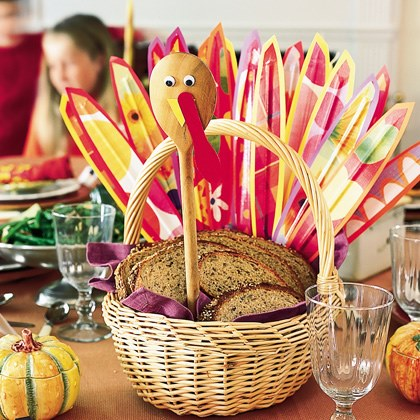 Turkey Breadbasket Centerpiece