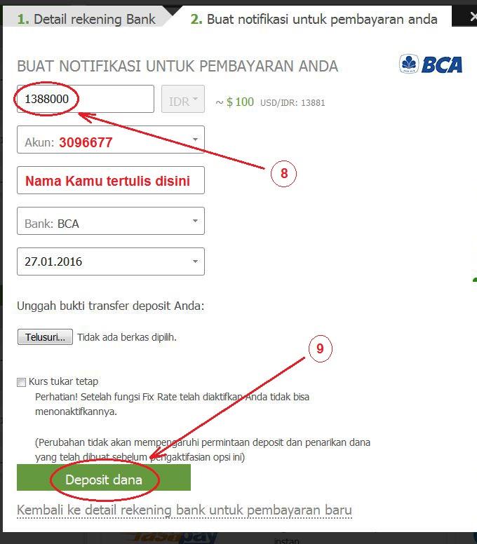 Deposit forex via bca