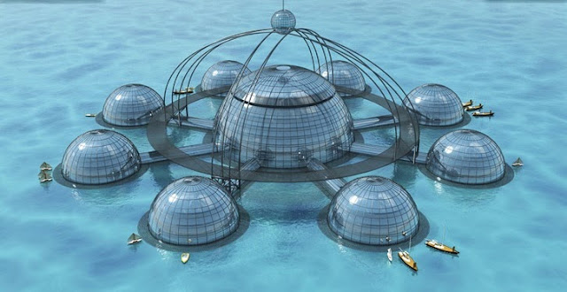 Houses In Water Ball