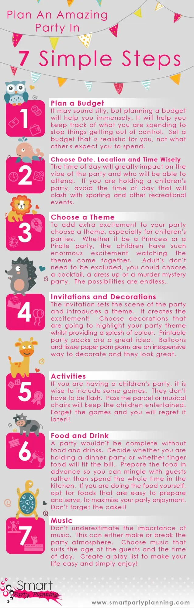 How To Plan A Party In 7 Easy Steps #infographic #Party #Party Planning #Party Budget Plan #Parties