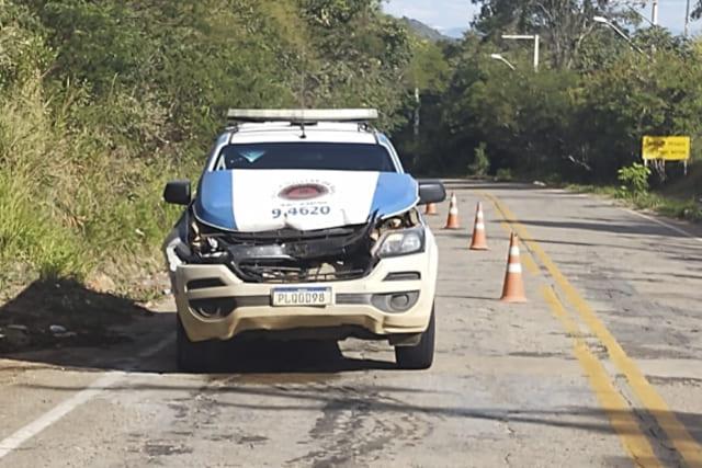 Viatura da Polícia Militar se envolve em acidente na Chapada Diamantina