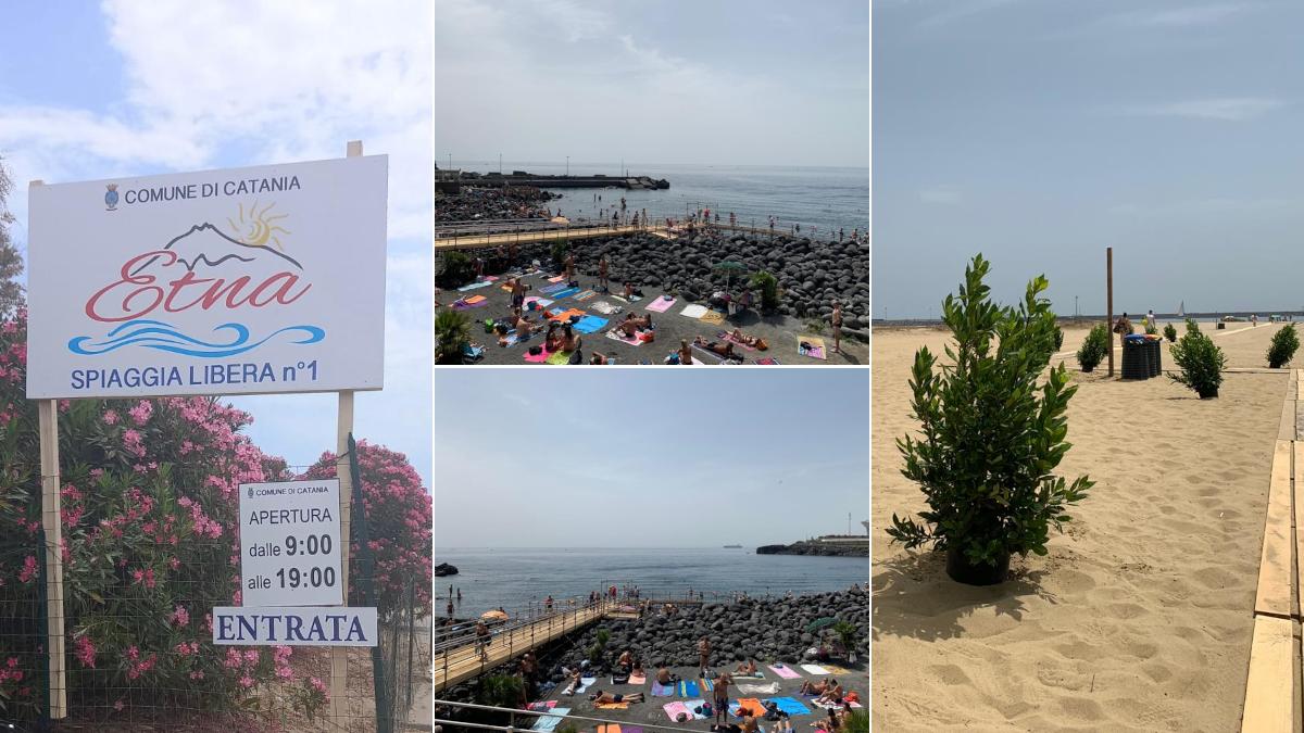 Apertura spiaggia libera Etna Plaia e passerella disabili San Giovanni Li Cuti