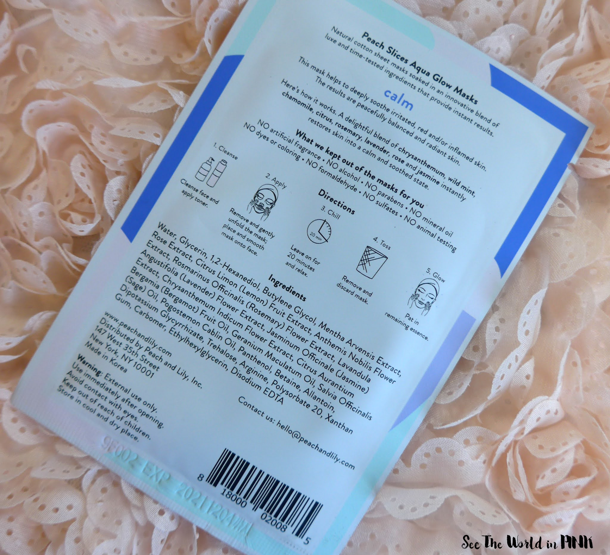 Skincare Sunday - Peach Slices Aqua Glow Sheet Mask Roundup: Hydrate, Brighten, Firm, Shrink Pores, Clarify and Calm!