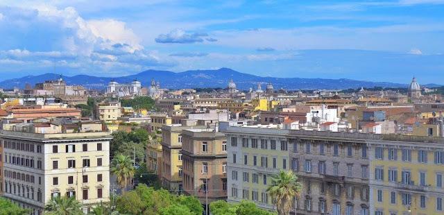 Vistas desde una terraza en Roma