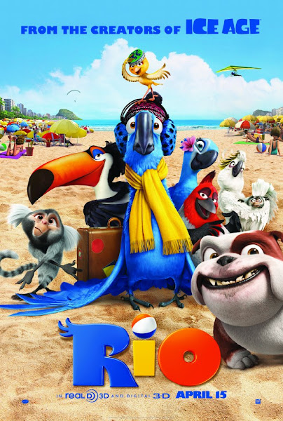 Poster Of Rio 2011 720p Hindi BRRip Dual Audio Full Movie Download