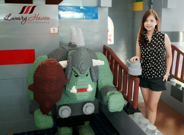 iskandar legoland hotel malaysia resort lobby lego creation