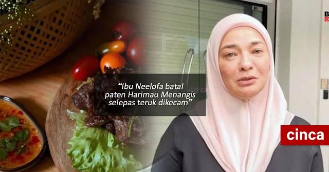 Ibu Neelofa batal paten Harimau Menangis selepas teruk dikecam