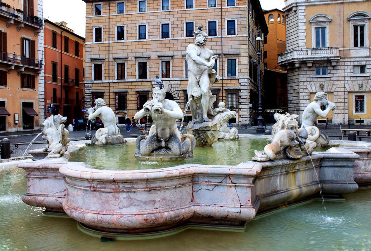 Fontana del Moro - Piazza Navona,
