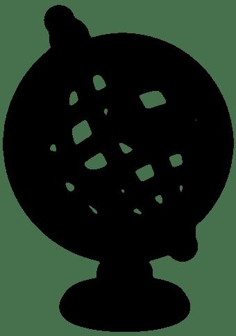 Globe line drawing image