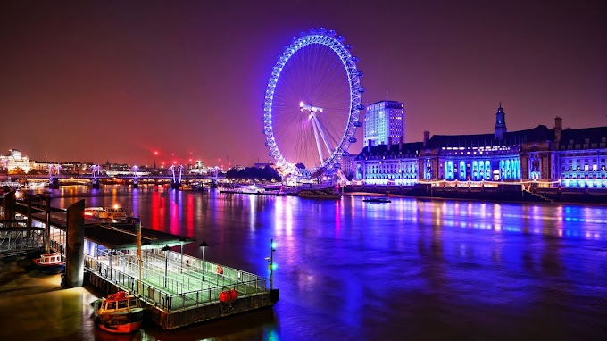 London Eye Night Hd Wallpaper