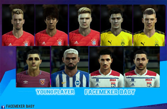 Young Player Facepack v22 2020 PES 2013