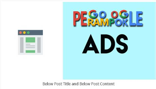 cara pasang iklan di atas postingan wordpress