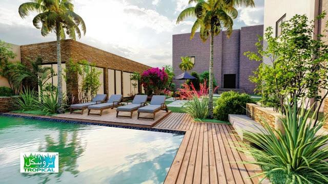 تنسيق حدائق استراحات بالرياض