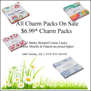 https://www.crazyquiltgirlfabricshop.com/2-off-charm-packs/