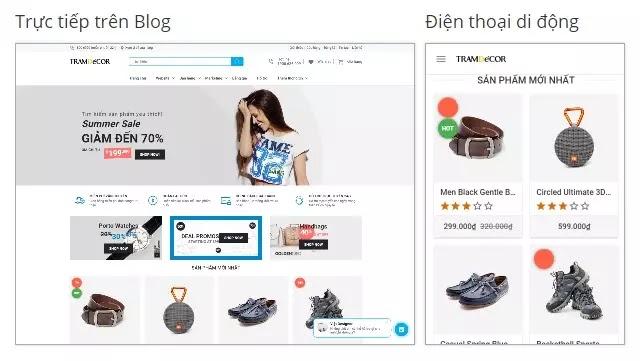Theme giao diện blogspot bán hàng đẹp chuẩn SEO