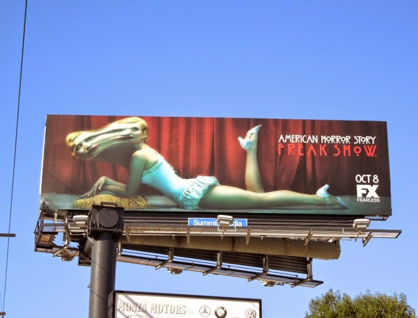 American Horror Story Freak Show blurred face billboard