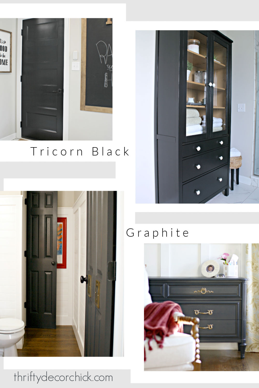 Graphite and Tricorn black paint colors