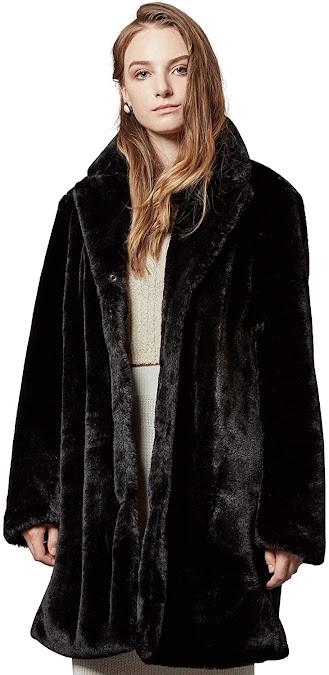 Best Black Faux Fur Coats Jackets For Women