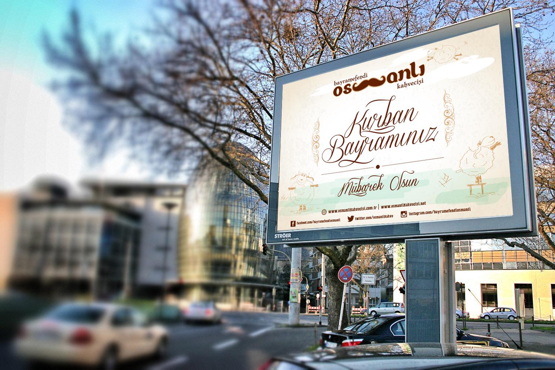 Bayramefendi Osmanli Kahvecisi Billboard Tasarimi Calismasi