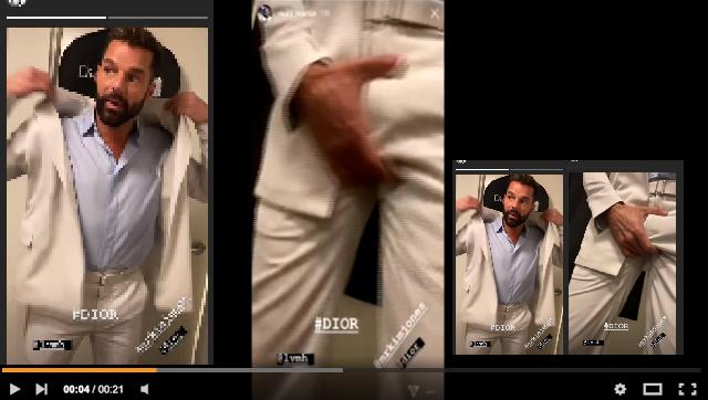 Ricky Martin se masturba