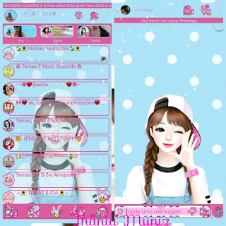 Baby Girl Theme For YOWhatsApp & KM WhatsApp ByThania