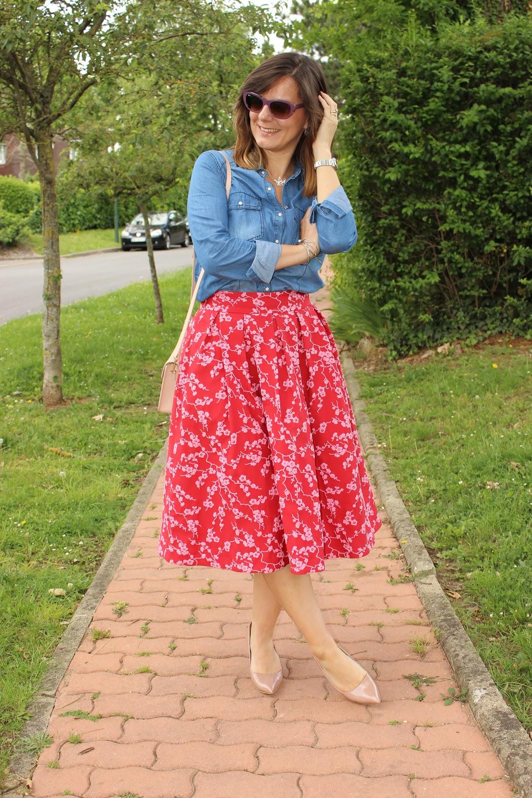 porter du jean avec tout, look du jour, jupe tara jarmon, les petites bulles de ma vie