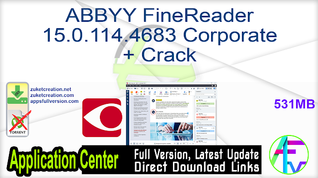 ABBYY FineReader 15.0.114.4683 Corporate + Crack