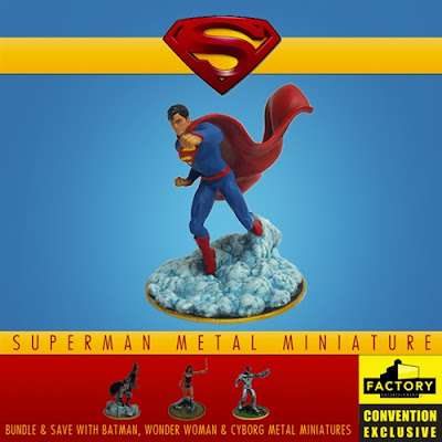 San Diego Comic-Con 2020 Exclusive Justice League Superman Metal Miniature by Factory Entertainment x DC Comics
