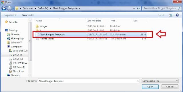 File XML Template Blogger