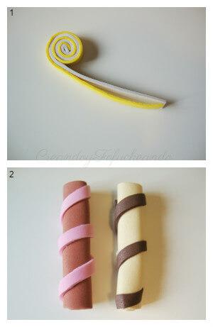 paso a paso para hacer el caramelo de goma eva