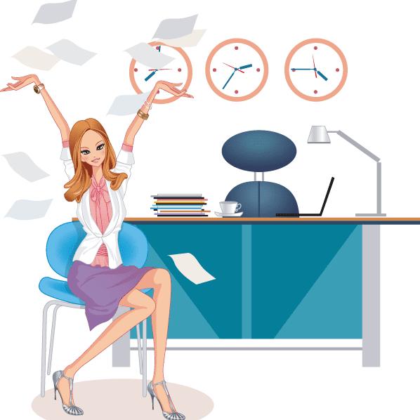 mujer trabajadora de exito vector
