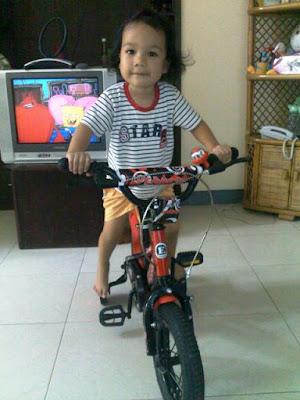 fakhri sudah bisa naik sepeda roda dua cara mudah tips mengajari anak bersepeda lipat bukalapak sepeda lipat nurul sufitri blogger