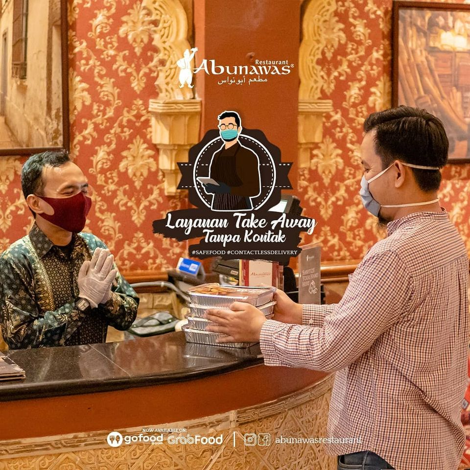 resto abu nawas melayani takeaway ala new normal