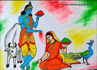radha-krishna-holi-drawing