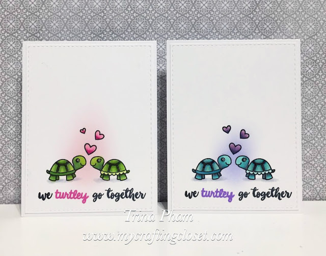 Sunny Studio Stamps: Turtley Awesome cards by Trina Pham