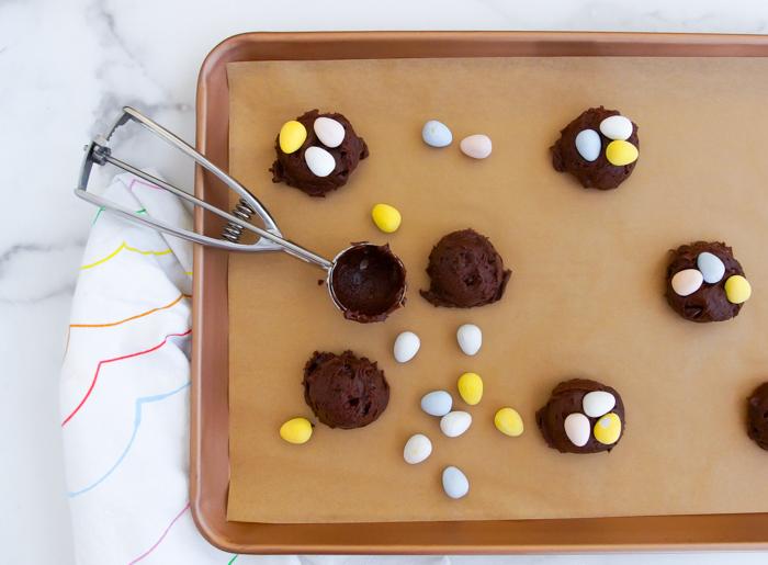 how to make chocolate mini egg cookies