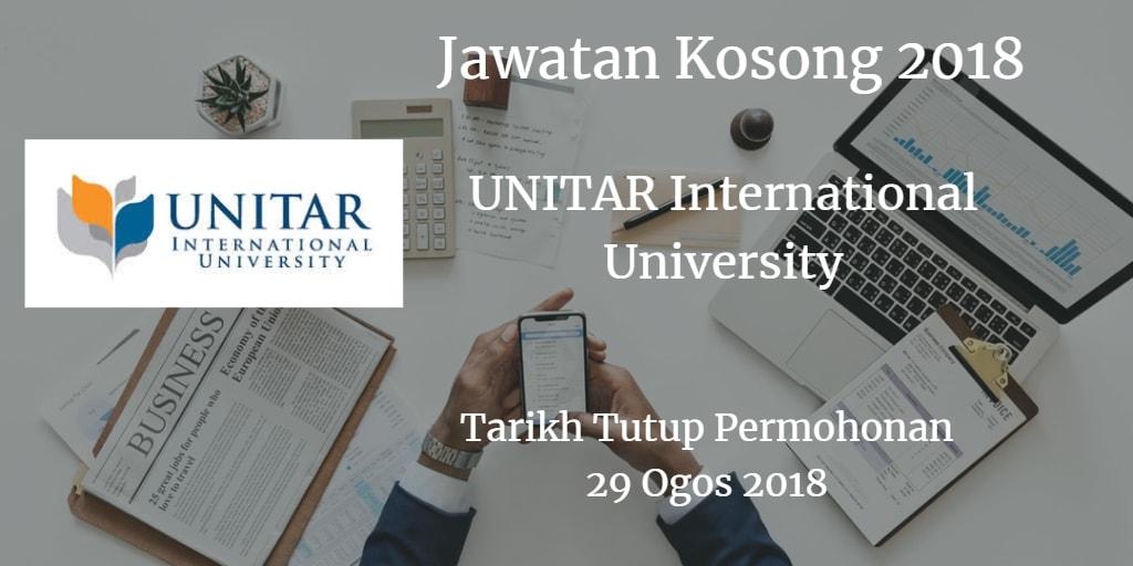 Jawatan Kosong UNITAR International University 29 Ogos 2018
