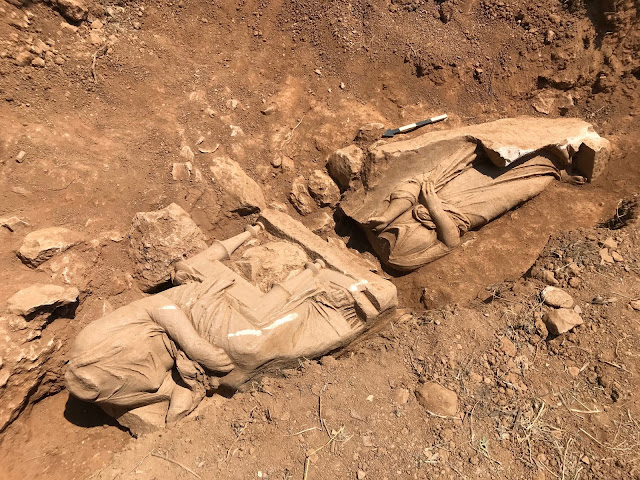 Temple shaped burial monument brought to light in East Attica