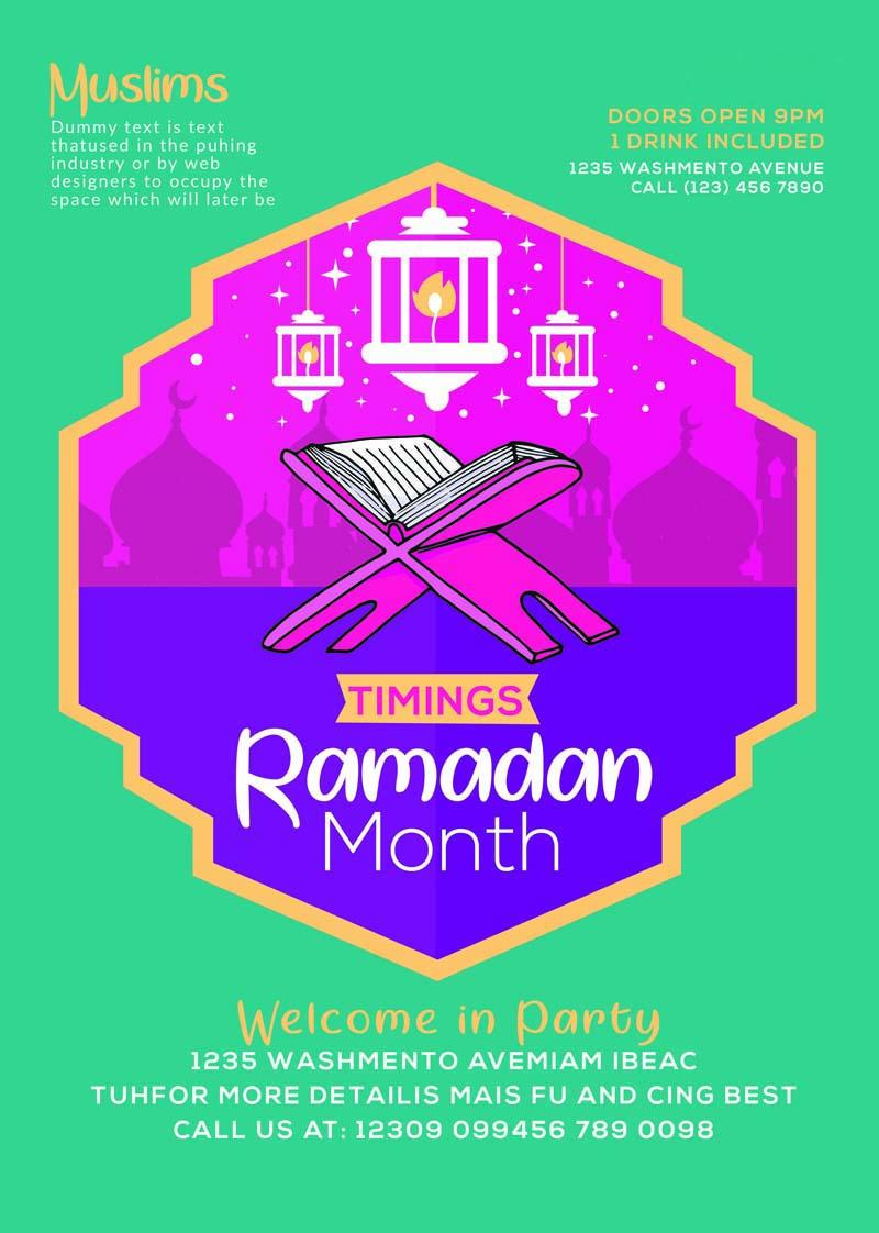 Ramadan Kareem Poster PSD Templates