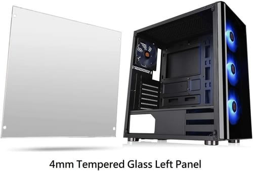Review Thermaltake V200 Tempered Glass RGB Computer Case