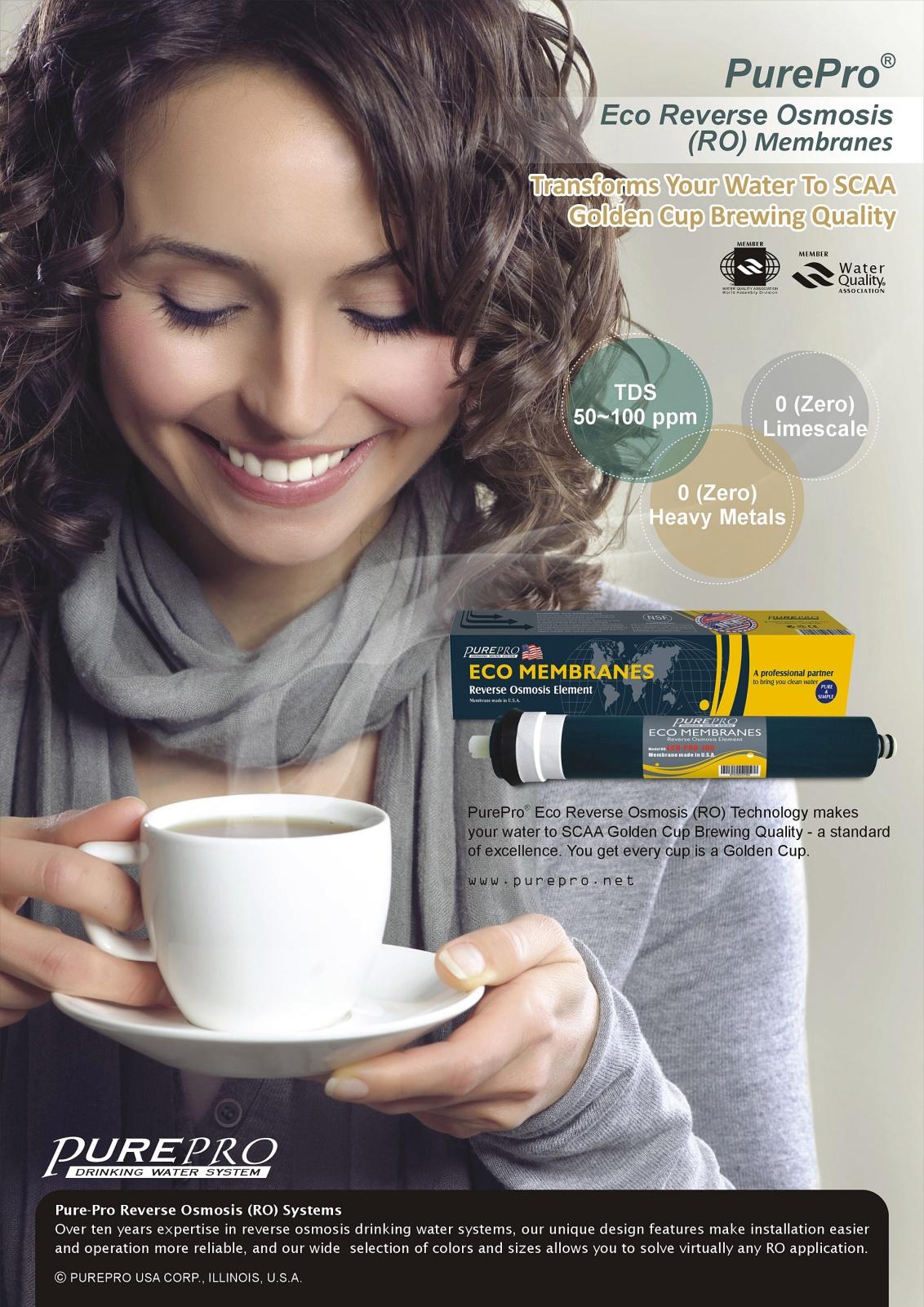 全新配備具礦物保護技術的新一代逆滲透膜:  美國 PurePro® X6  十大最佳淨水器之一