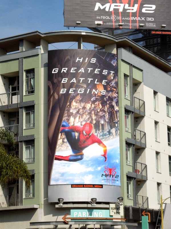 Amazing Spider-man 2 His greatest battle begins billboard