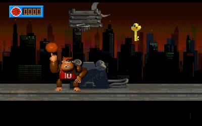 【Dos】灌籃金剛(KingKong 10),拿籃球當武器的猩猩動作遊戲!