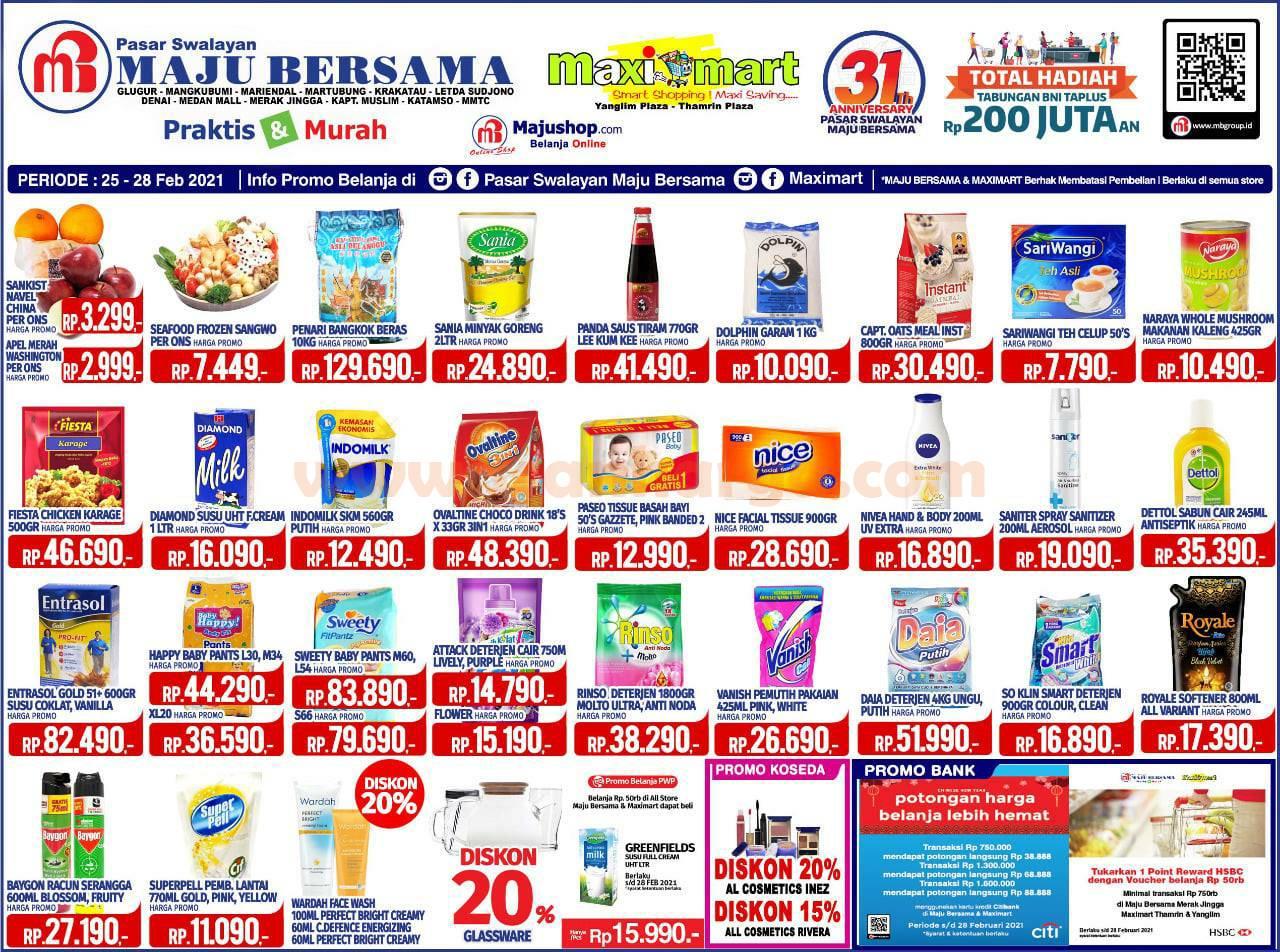 Katalog Promo Maximart Pasar Swalayan 25 - 28 Februari 2021